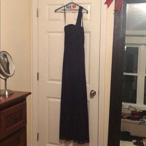 Floor length plum purple dress